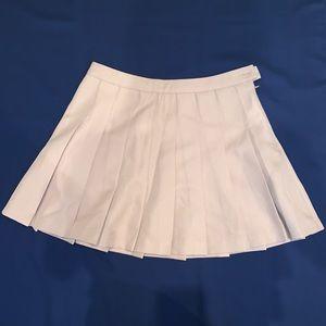 Forever 21 pleated khaki mini skirt